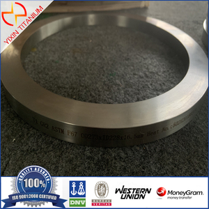 ASTM F67 GR2 Titanium Forged Ring for Medical Use